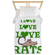 Love Love Rats Twin Duvet