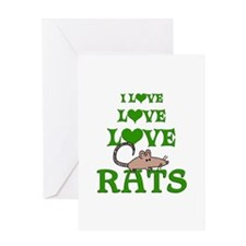 Love Love Rats Greeting Card