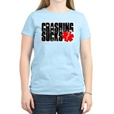 Crashing Sucks II Women's Pink T-Shirt
