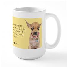 Never Vacuuming Excuse Large Mug