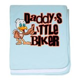 Daddy's Little Biker baby blanket