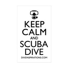 Keep Calm Scuba Dive Sticker (Rectangle 10 Pk)