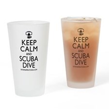 Keep Calm Scuba Dive Drinking Glass