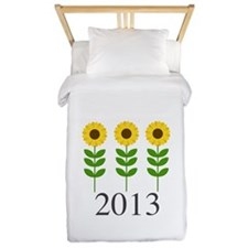 Personalizable Sunflowers Twin Duvet