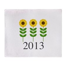 Personalizable Sunflowers Throw Blanket