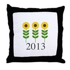 Personalizable Sunflowers Throw Pillow
