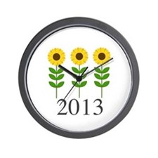 Personalizable Sunflowers Wall Clock