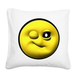 yell-winky-face.png Square Canvas Pillow