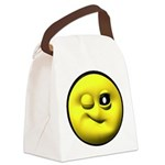 yell-winky-face.png Canvas Lunch Bag