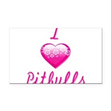 I Love/Heart Pitbulls Rectangle Car Magnet