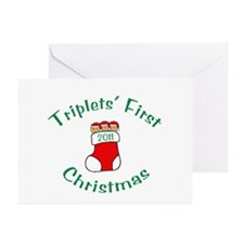 Triplets First Stocking Greeting Cards (Package of