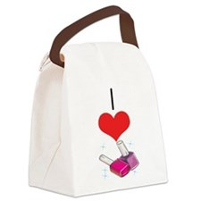Nail Polish Canvas Lunch Bag