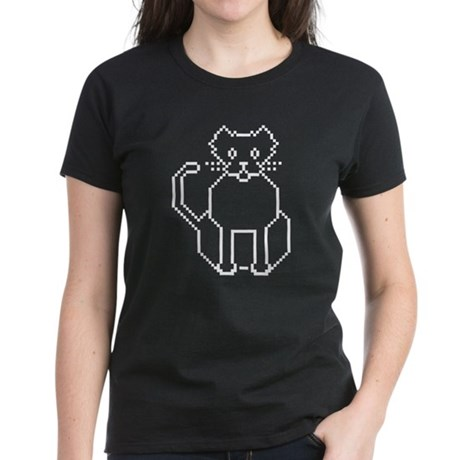 Pixel Cat Women's Dark T-Shirt