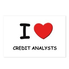 I love credit analysts Postcards (Package of 8)