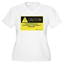 Caution Plus Size T-Shirt