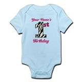 1st Birthday Zebra - Personalized! Body Suit