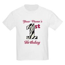 1st Birthday Zebra - Personalized! T-Shirt