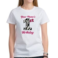 1st Birthday Zebra - Personalized! T-Shirt