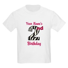 2nd Birthday Zebra - Personalized! T-Shirt