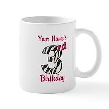 3rd Birthday Zebra - Personalized! Mug