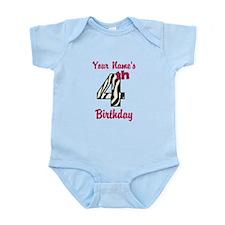 4th Birthday Zebra - Personalized! Body Suit