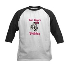4th Birthday Zebra - Personalized! Baseball Jersey