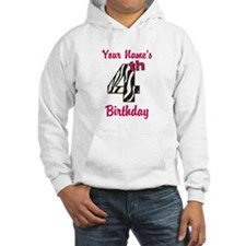 4th Birthday Zebra - Personalized! Hoodie