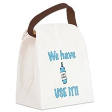spray,use-it,blue.png Canvas Lunch Bag