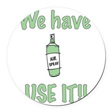 spray,use-it,green.png Round Car Magnet