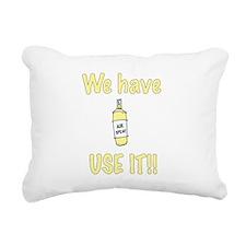 spray,use-it,yellow.png Rectangular Canvas Pillow