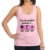 cook, clean, iron Racerback Tank Top