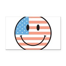 happy-face-flag.png Rectangle Car Magnet