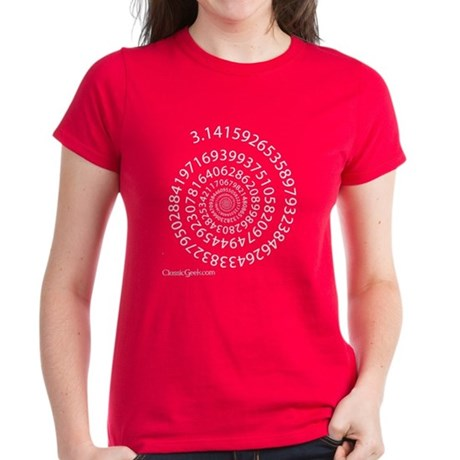 Spiral Pi Women's Dark T-Shirt