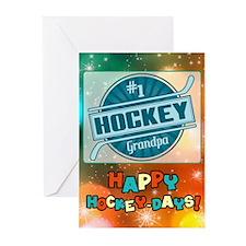 #1 Hockey Grandpa Holiday (pk Of Greeting Cards