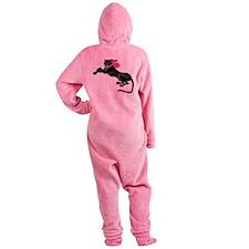 black-panther-n-pink-bow,pn.png Footed Pajamas