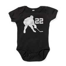 Hockey Player Number 22 Baby Bodysuit