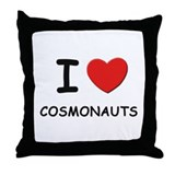 I love cosmonauts Throw Pillow