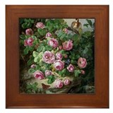 Rose Deams Framed Tile