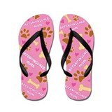 Affenpinscher Mom Gift Flip Flops