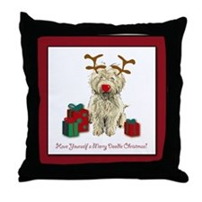 Merry Doodle Christmas Throw Pillow