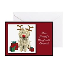 Merry Doodle Christmas Greeting Cards (Package of