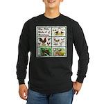 Christmas Birds Long Sleeve Dark T-Shirt