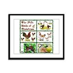 Christmas Birds Framed Panel Print