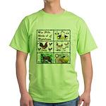 Christmas Birds Green T-Shirt