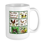 Christmas Birds Large Mug