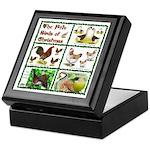 Christmas Birds Keepsake Box