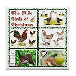 Christmas Birds Tile Coaster