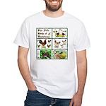 Christmas Birds White T-Shirt