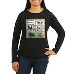 Christmas Birds Women's Long Sleeve Dark T-Shirt