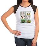 Christmas Birds Women's Cap Sleeve T-Shirt